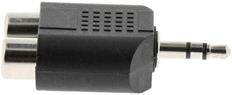 P Prettyia メッキ3.5mmステレオジャックプラグ 2 RCAピンソケット