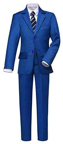 Visaccy Boys Suits Slim Fit Dress Clothes Ring Bearer Outfit Royal Blue Size 2T -