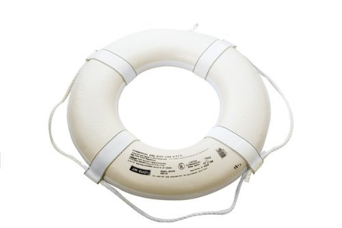 Jim Buoy G-Series Life Ring Buoy 19-30'' - White - 20'' by LIFEGUARD MASTER