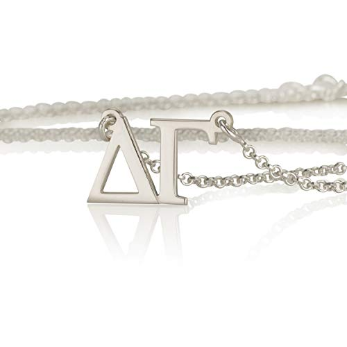 Necklace Omega Personalized (Delta Gamma Gifts Necklace 925 Sterling Silver, Personalized Sorority Jewelry)