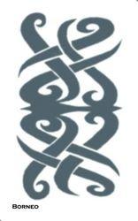 Tinsley Transfers Borneo Tribal Adult Tattoo (1 Pack) (Tattoo Borneo)