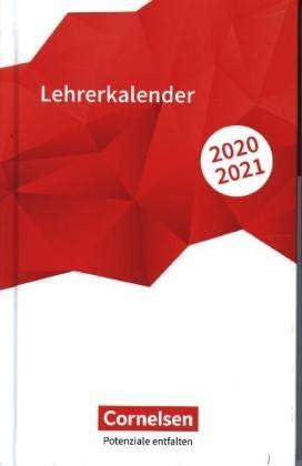Schulplaner A6 - Schuljahr 2020-2021 - Volk und Wissen-Verlag - Cornelsen - Lehrerkalender - Rot