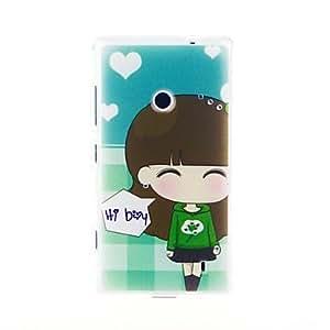 Kinston Love The Little Girl Diamond Paste Pattern TPU Soft Case for Nokia Lumia 520