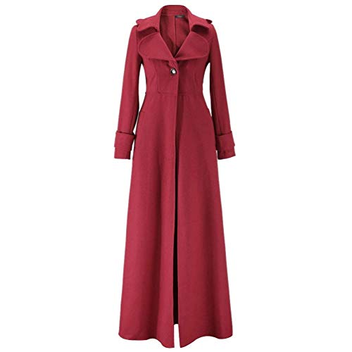 des Manches Style Style Long Winered Transition Costume lgant Fashion Femmes Fit Slim De Printemps Automne Trench Longue Manteau Exquis Moderne Revers Unicolore Femme Manteau 0Sqaw8
