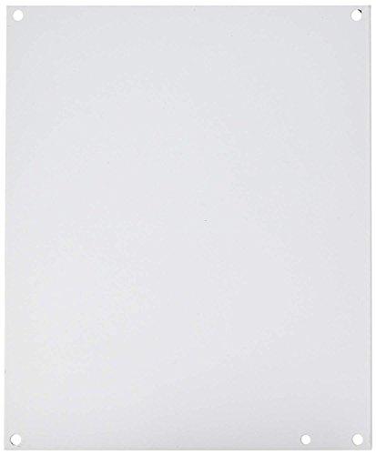 "Hoffman A12P10 Conductive Panels for JIC Enclosure, Steel/Aluminum, J Box/10.75"" x 8.88"", Fits 12"" x 10"", White"