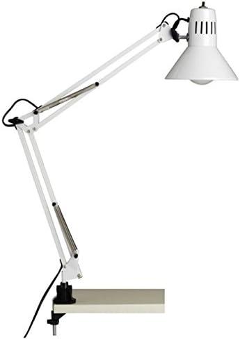 Flexo color blanco articulado para fijación a mesa con cabezal ...