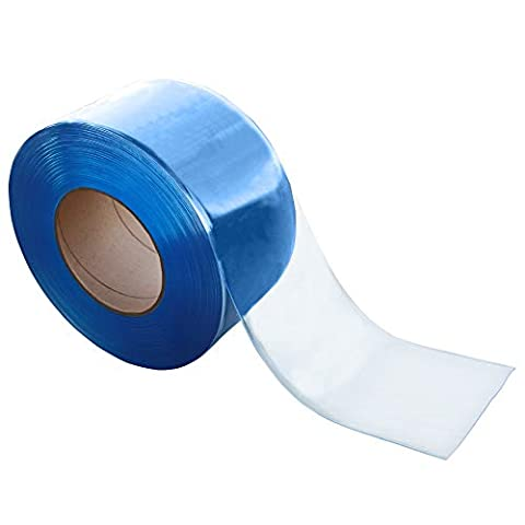 VIZ-PRO Freezer PVC Curtain Strip for Walk in Freezers, Coolers & Warehouse Doors, 164′ Length x 8″ Width x 0.08″ Thick