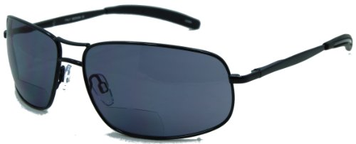 In Style Eyes Ace in the Hole, Nearly No Line Bifocals Sunglasses Pewter ()