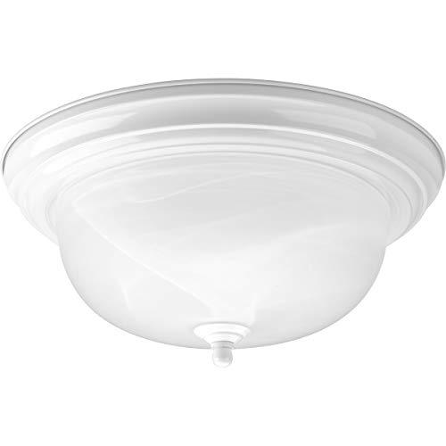 Alabaster Melon Ceiling Flush - Progress Lighting P3925-30 2-75-Watt Med Close To Ceiling