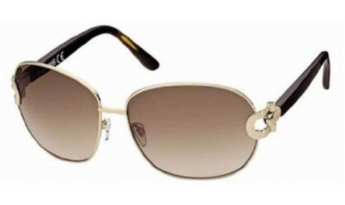 Just Cavalli Women's JC273 Metal Sunglasses,Rose Gold Frame/Gradient Brown Lens,one size