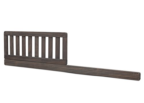 (Simmons Kids SlumberTime Daybed Toddler Guardrail Kit, No.328725 Rustic Grey)