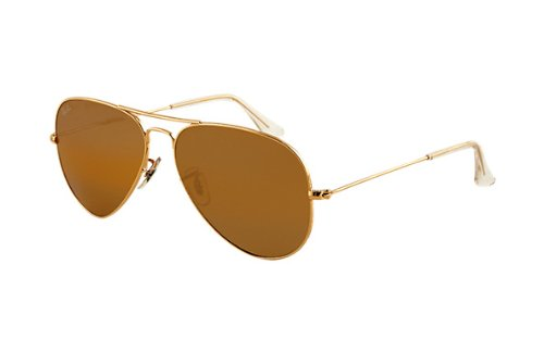 Ray Ban Aviator Classic RB3025 001/57-58-14 Mens sunglasses Arista Brown - Ray Classic 58-14 Aviator Ban Rb3025