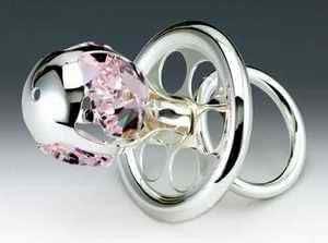 Amazon.com: Chupete Plata Swarovski Crystal Ornamento Figura ...