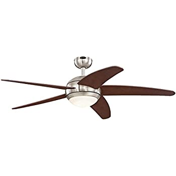 Amazon westinghouse 7801720 comet two light 52 inch reversible westinghouse 7206500 bendan led 52 brushed nickel with hammered accents indoor ceiling fan aloadofball