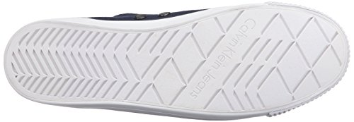 Calvin Klein Dora Canvas, Zapatillas Para Mujer Azul (navy)