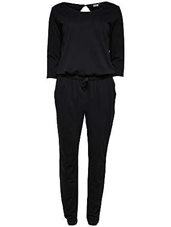 JDY by ONLY Damen Overall JDYSAKI 3 4 Jumpsuit JRS RPT2 lang schwarz ( schwarz 1ecb257892