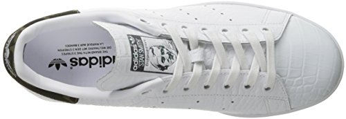 Bianco Ginnastica Uomo Bianco Scarpe Stan Basse da Smith Nero Adidas 6PApfx