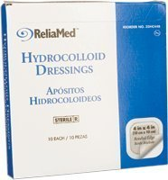 - 4X4 Hydrocolloid Wound Dressing, Thin, 10/Box