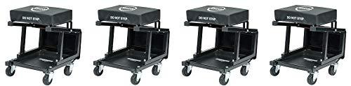 Omega Lift 91305 Omega Lift 2-in-1 Mechanics Creeper Seat/Step Stool, 7.88'' Height, 17.72'' Width, 15.75'' Length (4-(Pack))