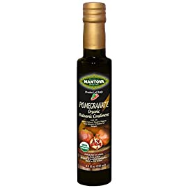 Mantova organic pomegranate balsamic vinegar of modena, perfect for salad dressing, pasta salad, ice cream and cocktails… 1 mantova organic pomegranate balsamic vinegar of modena, is certified usda organic and imported from modena, italy, home to the finest quality balsamic vinegar full-bodied texture, rich color with an acidity level of 6%; traditional balsamic vinegar flavor, tart with an underlying sweetness and natural pomegranate flavoring reasonably priced for everyday use, compare taste and cooking quality to much more expensive balsamic vinegar