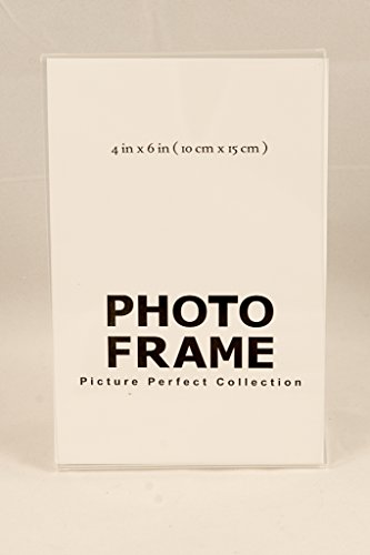 Photo Booth Frames - 4x6 Acrylic Picture Frames, Sign Holders 4 x 6 Inch Vertical (12 Pack) - Picture Perfect Collection 4x6 frames are designed to hold 4x6 inch vertical photos securely to prevent damage to your photo and offer an elegant display Our crystal clear acrylic frames are elegent and sturdy to ensure your picture displays beautifully and stays secure Available in many different package quanties - picture-frames, bedroom-decor, bedroom - 31TkxkHw2DL -