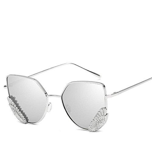 Aoligei Ailes oeil retro plats lunettes du chat mode Tide gens lunettes de soleil personnalité coréenne européenne de soleil qu7lAo7ibQ