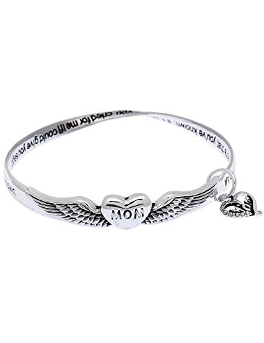Mothers day beautiful sayings poem poet twist mobius charm bangle bracelet winged heart mom