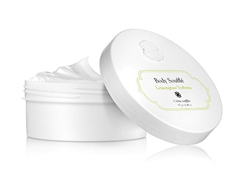 Body Souffle Lemongrass Verbena by Laline for Women - 12.46 oz Cream Moisturizing Cream Enriched with [Jojoba, Aloe Vera, Calendula and Borage Oils] Paraben Free Skin Care