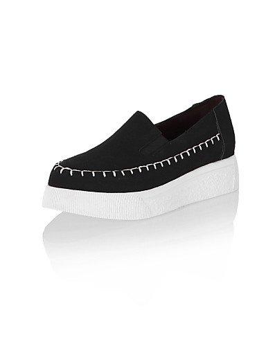 ZQ Zapatos de mujer - Tacón Bajo - Puntiagudos - Mocasines - Oficina y Trabajo / Vestido / Casual - Semicuero - Negro / Gris / Beige , gray-us10.5 / eu42 / uk8.5 / cn43 , gray-us10.5 / eu42 / uk8.5 / beige-us8 / eu39 / uk6 / cn39