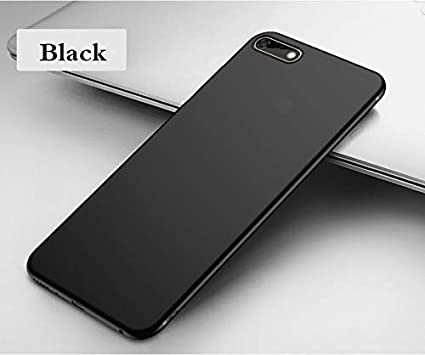 best website e51f2 bea50 Clorox Huawei Honor 7s Back Cover Line Plain Black: Amazon.in ...