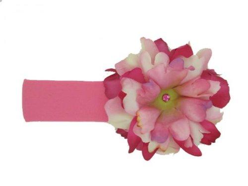 Jamie Rae Hats Baby Girl's Flower Headband- Candy Pink with Pink and Raspberry Peony 12m+ (Jamie Hats Headband Rae)