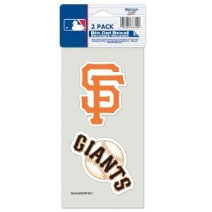 San Francisco Giants Set of 2 Die Cut Decals (Giants Die Cut Decal)