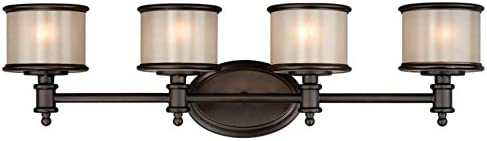 Vaxcel CRVLU004NB 4 Carlisle Bathroom Bar Light, Noble Bronze