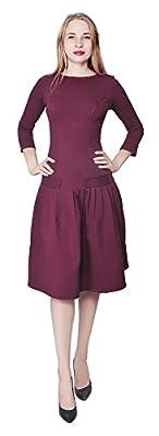 Marycrafts Women's Drop Waist Dress Retro 1920s Pleated Flapper Gown
