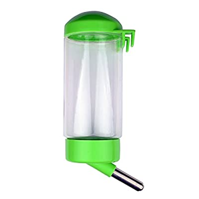 Flammi Pet Water Bottle Hanging No Drip Chew Proof 450ml/15oz for Puppy Cat Rabbit Small Animals, Automatically Feeding Water by Flammi