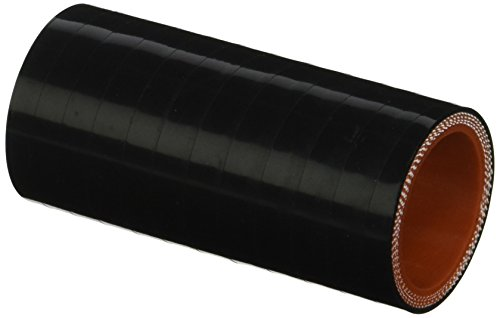 HPS HTSC-112-BLK Silicone High Temperature 4-Ply Reinforced Straight Coupler Hose, 100 PSI Maximum Pressure, 3