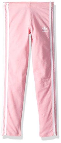 adidas Originals Little Girl's 3 Stripes Leggings Pants, light pink/white, XS (Blossom Three Light)