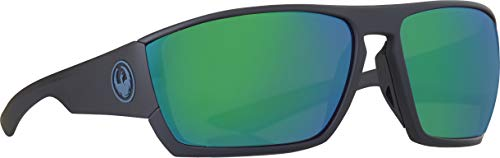 Sunglasses DRAGON DR CUTBACK H 2 O 008 MATTE BLACK H2O WITH GREEN ION Polarized (Sunglasses Dragon Polarized)