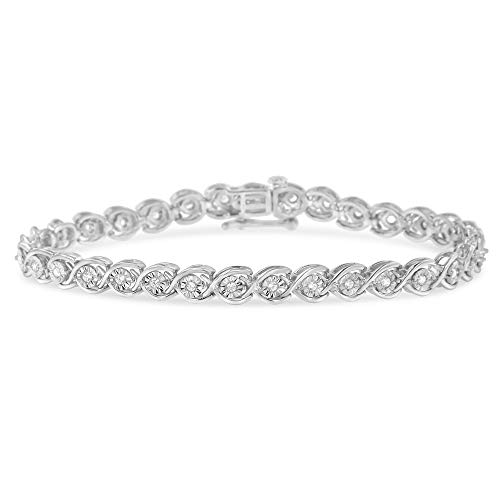 Original Classics Sterling Silver Diamond Link Bracelet (0.5 cttw, I-J Color, I2-I3 Clarity)