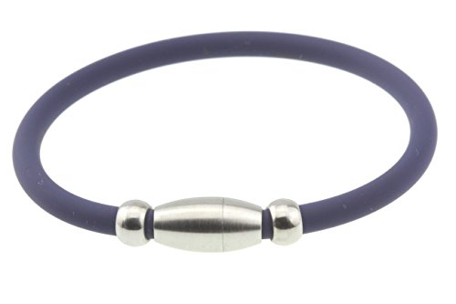 Embolden Jewelry Blue Titanium Silicone Sport Athletic Power Bracelet Magnetic Clasp Baseball Golf Large Size