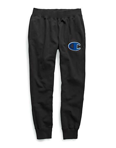 Champion LIFE Men's Reverse Weave Jogger Sweatpants, Black, Large