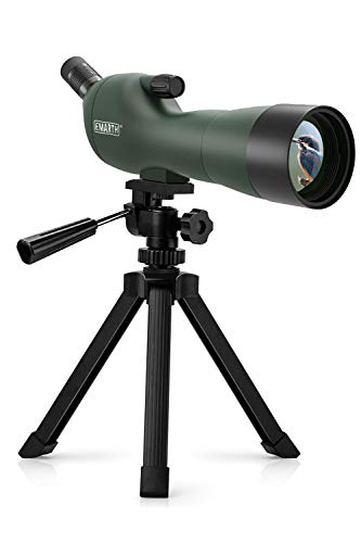 Emarth 20-60x60AE Waterproof Angled Spotting Scope with Tripod, 45-Degree Angled Eyepiece, Optics Zoom 39-19m/1000m for Target Shooting Bird Watching Hunting Wildlife Scenery (20-60x60) Green