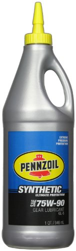 Pennzoil 56077 75W-90 Synthetic Gear Oil (GL-5) - 1 Quart