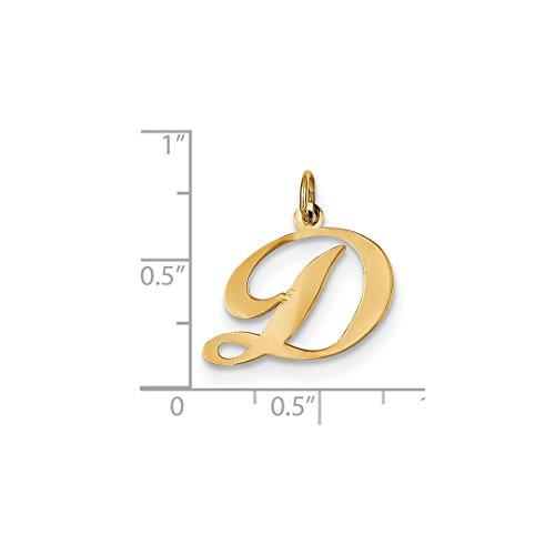 ice carats 14k yellow gold medium script initial monogram name