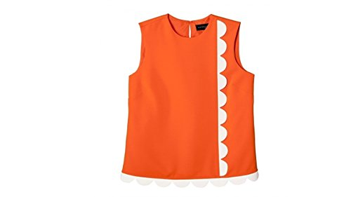 NICE.Victoria Beckham for Target orange top S scallop - Beckhams Victoria Shop