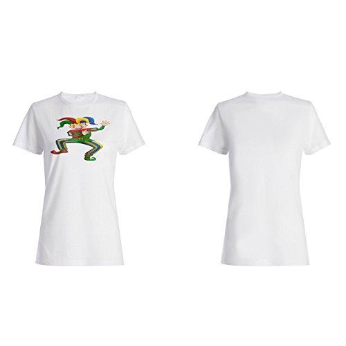 Clown funky lustige karikatur Damen T-shirt g148f
