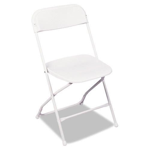 Bridgeport 60672WHT4 Stack Rental Folding Chair, White, 4 per Carton