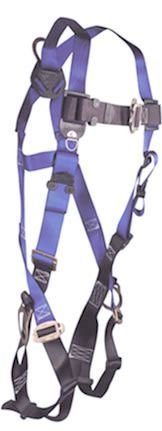 FallTech 7017 Contractor Full Body Harness with 3 D-Rings and Mating Buckle Leg Straps, Universal Fit -