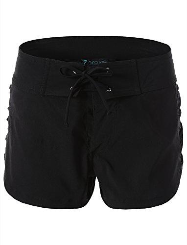 Trunkette Women's Aqua Lace Hilary Trunk Black Size