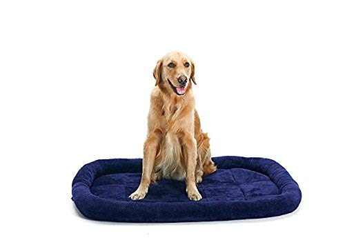 presentando tutte le ultime tendenze della moda QINCH QINCH QINCH Pet Supplies Morbida Felpa Pet Dog Cat Blanket Cushion Bed Warm Sleeping Mat (Blu Scuro) Coperta per Letto di Animali Domestici  il prezzo più basso